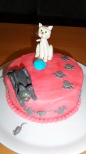 Fondant Katzen Figuren Torte