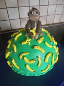 CoCo der Affe mit Banane Torte monkey with banana